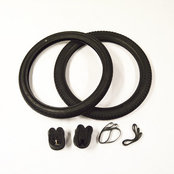 Deestone dæk sæt komplet for og bag inkl slanger og fælgbånd