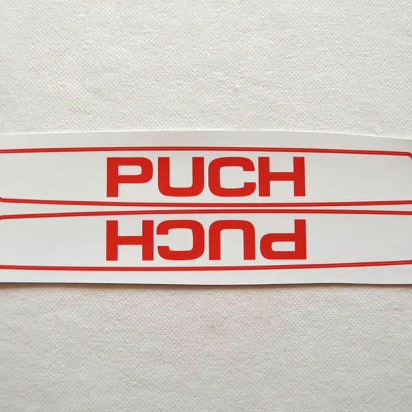 Stafferinger Puch rød hvid
