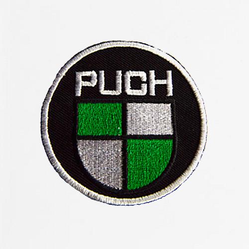 Stof mærke med Puch logo Ø75 mm