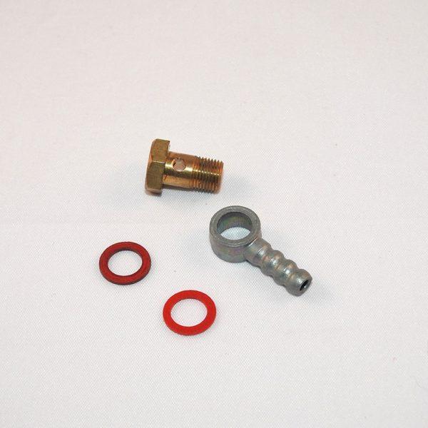 Nyt Benzin indløb ink 2 pakninger til rund karburator 12 og 15 mm