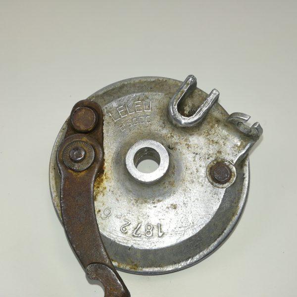 Brugt original Leleu Bremseplade i Aluminium til forhjul til PUCH Maxi P, K og kl