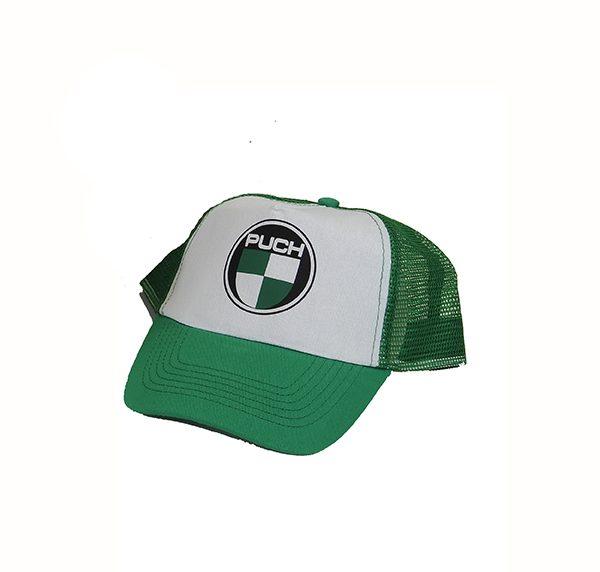 Puch Cap hvid/grøn