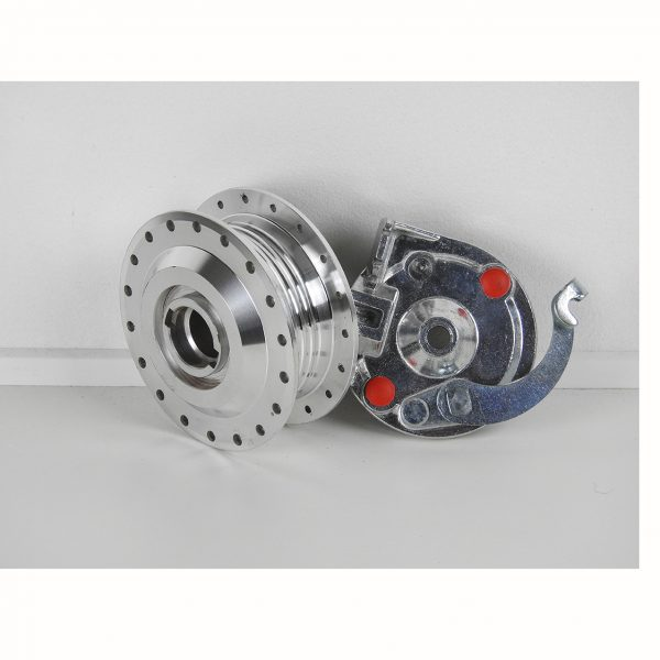 Forhjuls nav gammel model med bremseplade