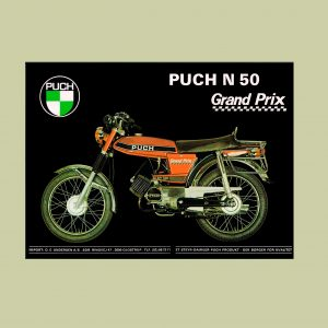 A3 plakat med PUCH Grand Prix