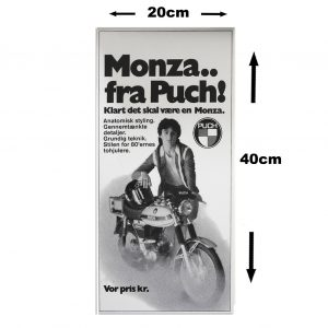 Retro skilt i 3mm pvc model med PUCH Monza