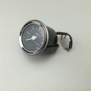 Speedometer 60mm med krom kant