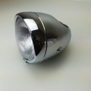 Retro forlygte 130mm med plads til et 60mm speedometer
