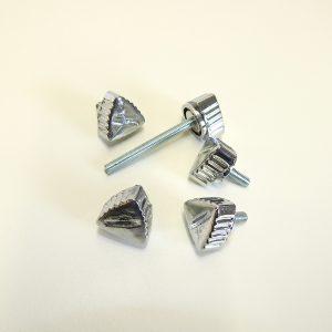 Fingerskruer i krom sæt af 5 stk til PUCH Maxi P og K