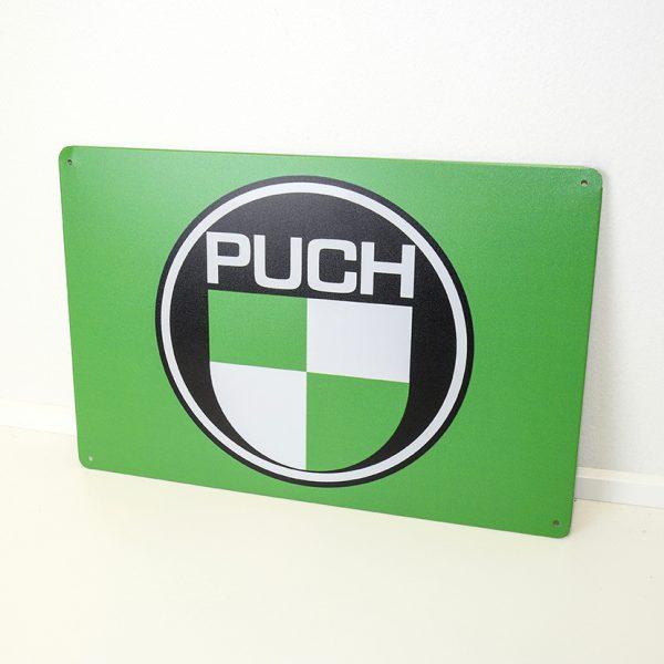 Metal-skilt-20x30cm-med PUCH logo