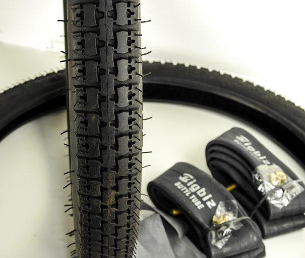 """SEMPRIDE dæk sæt 2.00x17"""" inkl slanger og fælgbånd til PUCH Maxi"""