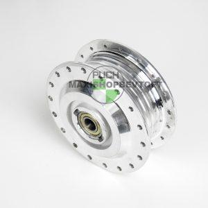 Nav til forhjul poleret inkl faste lejer til PUCH Maxi P, K, KL og 2 gear