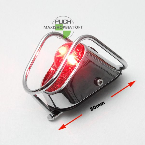Retro baglygte med indbygget LED til batterier