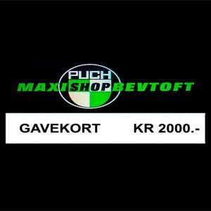 Gavekort 2000kr
