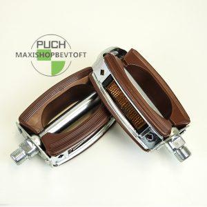 Pedal sæt i brun med reflex til PUCH Maxi