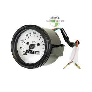 Speedometer 60mm hvid skive