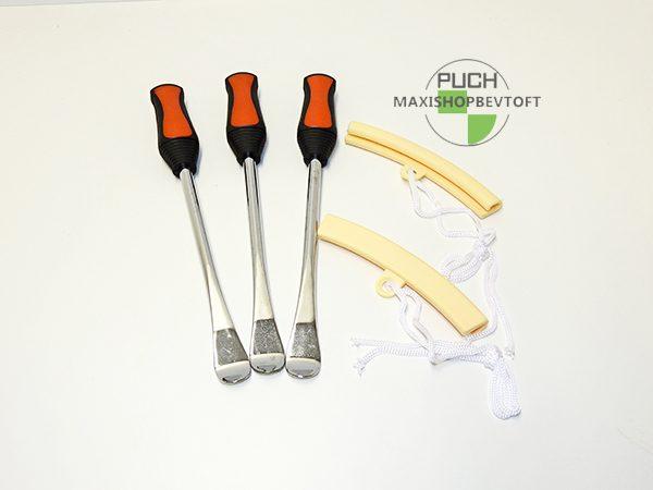 3 stk Dæk jern med 2 stk kant beskytter til din PUCH Maxi