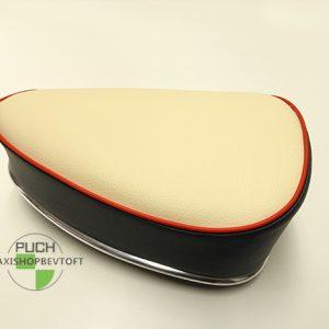 Sæde oldtimer med hvid siddeflade til PUCH Maxi