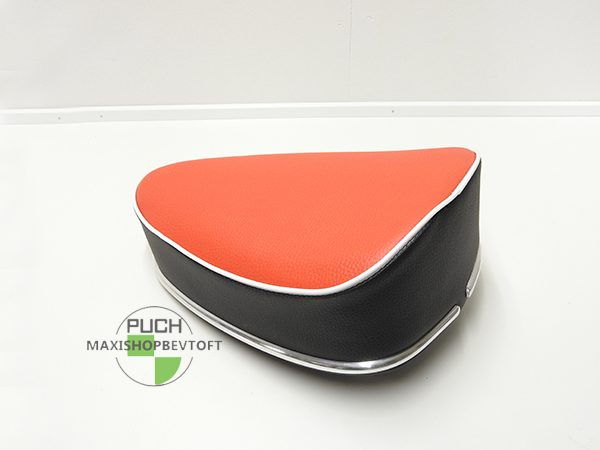 Sæde oldtimer med rød siddeflade til PUCH Maxi
