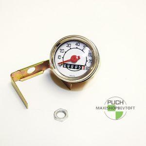 Speedometer 80kmt med hvid skive 48mm til Puch Maxi