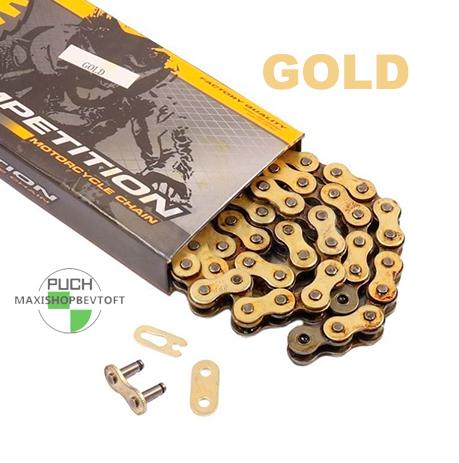 Kæde SFR Competition Gold passer til alle PUCH Maxi modellerne