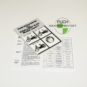 Original Instruktionsbog fra 1974 til PUCH Maxi 3 modeller