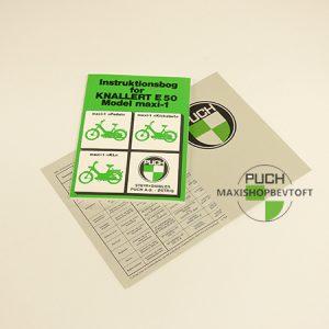 Original Instruktionsbog fra 1980 til PUCH Maxi 3 modeller