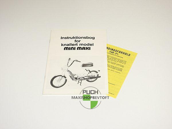 Original Instruktionsbog fra 1983 til PUCH mini maxi