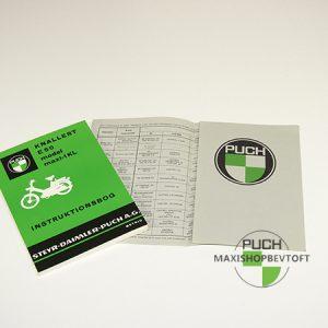 Original Instruktionsbog fra 1977 til PUCH Maxi KL