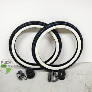 Dæk sæt Kenda White wall inkl slanger og fælgbånd til PUCH Maxi