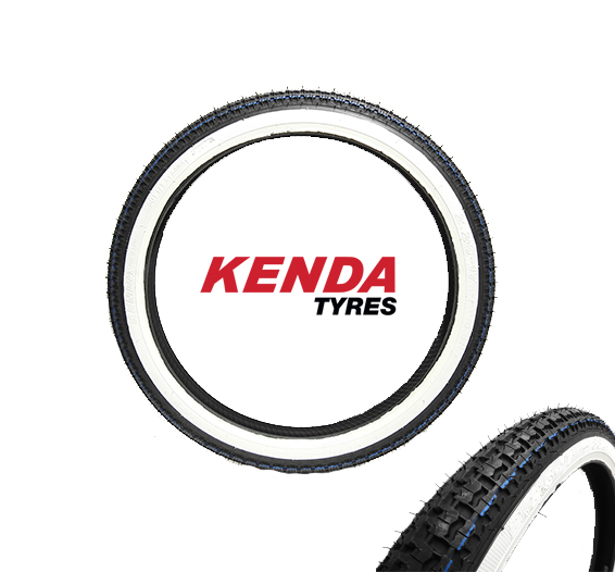 Kenda Whitewall dæk 225 x 17