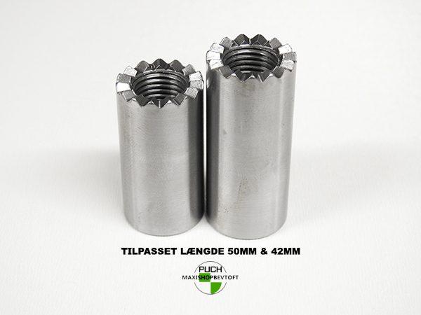 Sæt Fodhviler stel beslag 42mm og 50mm for HØJRE og VENSTRE side PUCH Maxi