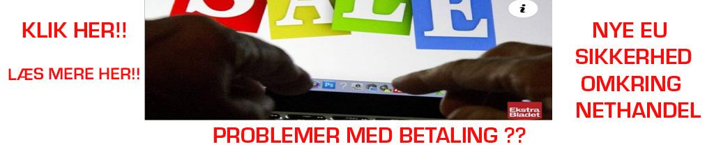 PROBLER MED BETALING PÅ NETTET