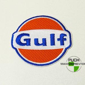 Stofmærke Ø70mm GULF i den bedste kvalitet med klæber