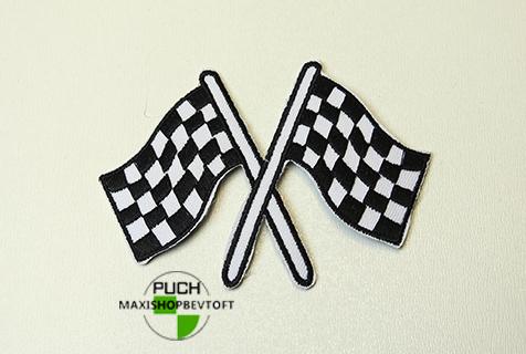Stofmærke 68X92mm MÅL FLAG i den bedste kvalitet med klæber