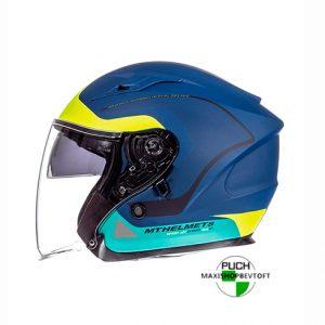 XXL Jet Hjelm i flotte farver med solbrille og stort visir