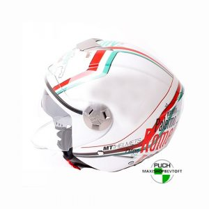 MEDIUM Jet Hjelm model Italy med solbrille og stort visir