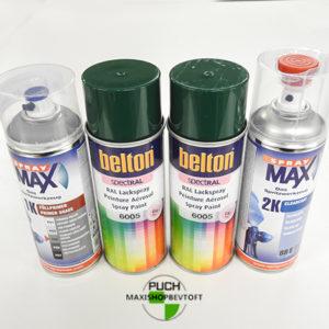 Benzinfast LUX sæt grøn lak ral 6005 med primer og 2 komp lak