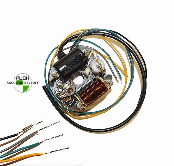 Komplet tænding i super kvalitet til PUCH Maxi 2 gear