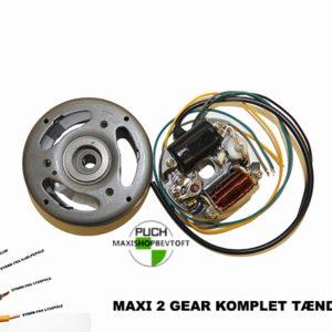Komplet tænding med Svinghjul i super kvalitet til PUCH Maxi 2 gear