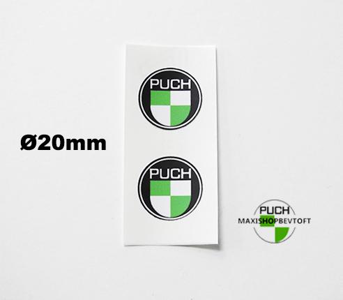 Ø 20mm klistermærke PUCH logo