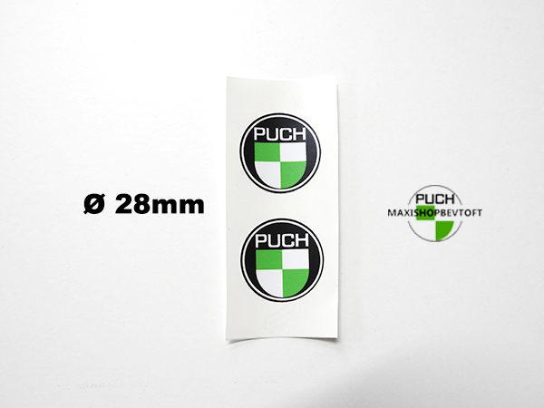 Ø 28mm klistermærke PUCH logo