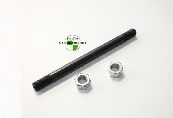 12mm Forhjuls aksel til faste lejer med 2 møtrikker til PUCH Maxi