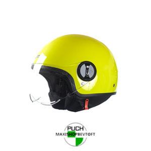 EXTRA LARGE Retro Hjelm i gul med klar visir