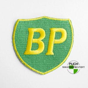 Stofmærke 70x77mm BP i den bedste kvalitet med klæber