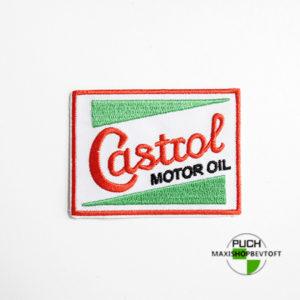 Stofmærke 77x57mm Castrol motor oil i den bedste kvalitet med klæber