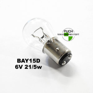 BAY15D Pære for baglygte 6v 21/5w