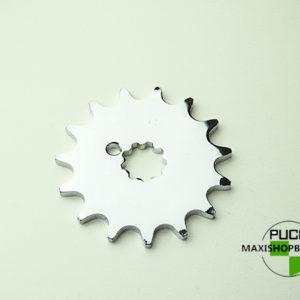15 tands forkromet tandhjul til PUCH Maxi