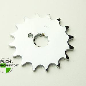 16 tands forkromet tandhjul til PUCH Maxi