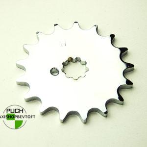 17 tands forkromet tandhjul til PUCH Maxi