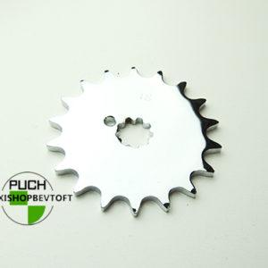 18 tands forkromet tandhjul til PUCH Maxi